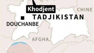 Carte du Tadjikistan localisant la prison de Khodjent