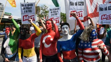 Manifestation contre le sommet du G20, le 30 novembre 2018 à Buenos Aires, en Argentine