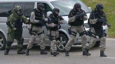 La police tchèque en opération