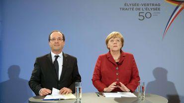 Francois Hollande et Angela Merkel réunis pour célébrer les 50 ans du traité de l'Elysée