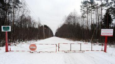 Le site de stockage de déchets toxiques de Krassni Bor, près de Saint-Pétersbourg en Russie, le 21 février 2016