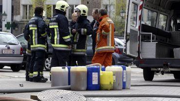Les pompiers ont combattu un incendie impliquant de l'acrylonitrile samedi, à Wetteren