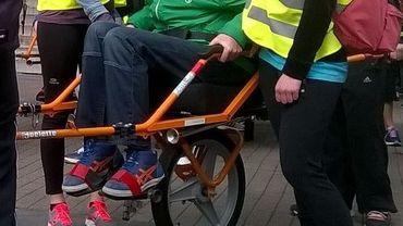 La fameuse Joélette adaptée pour les personnes à mobilité réduite