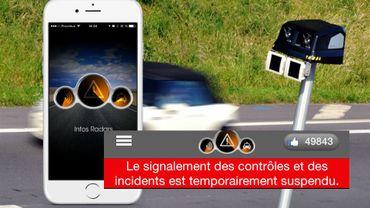 Habituellement, cette application pour smartphone informe les automobilistes d'éventuels incidents, de la présence de radars ou bien de contrôles de police.