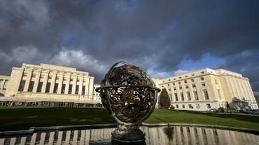 Vue du bâtiment des Nations Unies à Genève en janvier 2016.