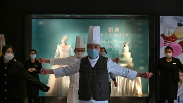 Des employés d'un hôtel de Wuhan, en Chine, le 28 janvier 2020