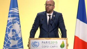 COP 21: Charles Michel annonce un financement climatique de 50 millions d'euros par an jusqu'en 2020