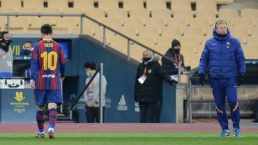 Messi suspendu deux matchs pour son rouge en Supercoupe