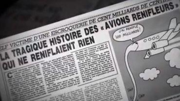 L'article du Canard enchaîné qui révèle le scandale en 1983.