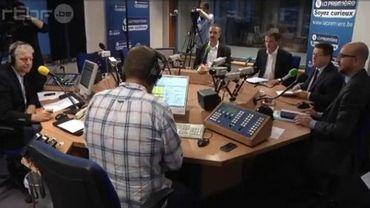 Les quatre présidents de partis dans le studio de la Première