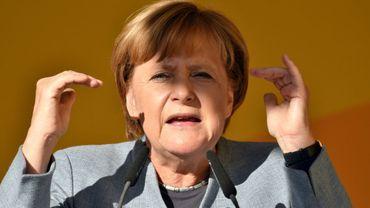 La chancelière Angela Merkel, le 15 septembre 2017 à Trèves dans le sud de l'Allemagne