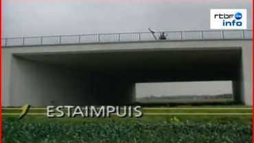 Le pont de l'inutilité à Estaimpuis