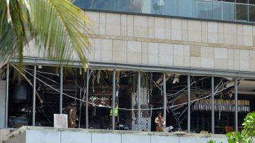 Les vitres d'un restaurant qui ont explosé dimanche