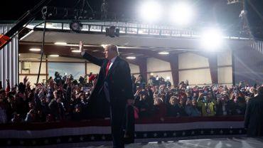 Donald Trump lors d'un meeting à Erie, en Pennsylvanie, ce 21 octobre