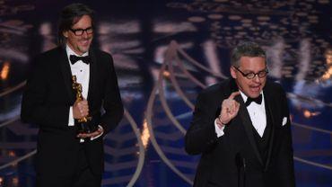 """Charles Randolph et Adam McKay ont été récompensés pour le scénario de """"The Big Short"""" (""""Le Casse du siècle"""")"""