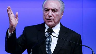 Le président du Brésil, Michel Temer à Sao Paulo le 1er décembre 2016