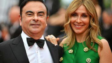 Carlos Ghosn et son épouse Carole au festival de Cannes, le 26 mai 2017