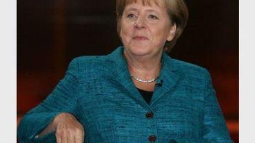 La chancelière Angela Merkel lors d'une émission de TV le 25 septembre 2011 à Berlin