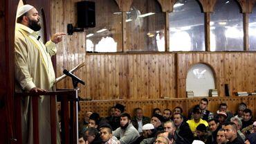 Un imam s'exprime dans la mosquée Mostafa Chendid de Copenhague le 15 février 2008 (illustration).