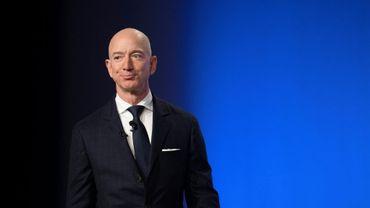 Jeff Bezos, fondateur milliardaire de Blue Origin, à Oxen Hill, dans le Maryland (Etats-Unis), le 19 septembre 2018