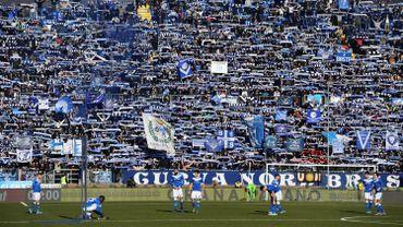 Les joueurs de Brescia et leurs supporters
