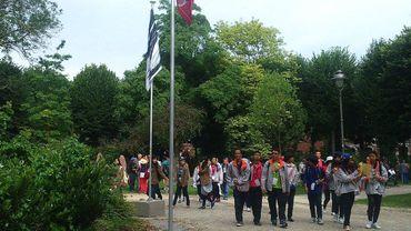 Les 1000 étudiants en sciences rassemblés à la Place de parc de Mons