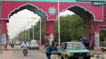 Une porte menant à la ville de Maiduguri, au nord du Nigeria, le 12 janvier 2011