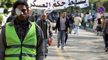 Manifestation au Caire, en Egypte, en novembre
