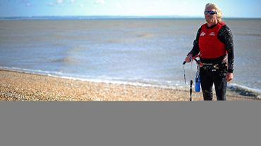 Richard Branson et son kite-surf
