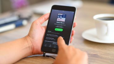 Spotify sur un iPhone 6