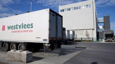Entreprise Westvlees à Staden, près de Roulers, ce 05 août