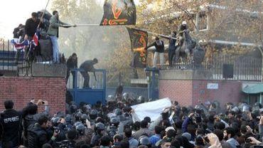 L'ambassade britannique attaquée le 29 octobre 2011 à Téhéran