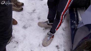 Les chaussons de Thierry Neuville
