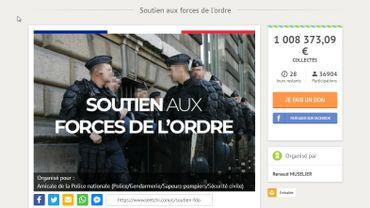"""""""Gilets jaunes"""" en France: la cagnotte pour les policiers blessés dépasse le million d'euros"""