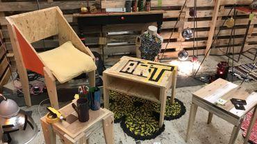 Des meubles et de la déco faits à partir d'objets récupérés au 4e salon RECUPère à Namur Expo
