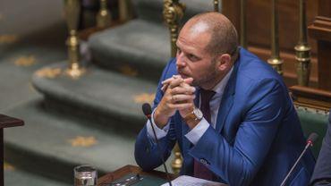 Theo Francken (N-VA), le Secrétaire d'État à l'Asile et aux Migrations, à la Chambre, le 28 septembre 2017.