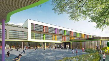 La future école de la rue Van Oost.