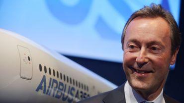Le CEO d'Airbus, Fabrice Bregier, a le sourire après la commande de l'Iran.