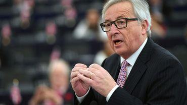 Le président de la Commission européenne, Jean-Claude Juncker à Strasbourg le 15 mars 2017