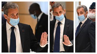 Nicolas Sarkozy à Paris, ce 1er mars 2021