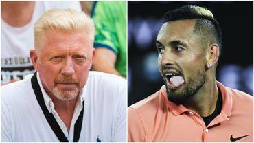 Tennis: échange d'injures entre Becker et Kyrgios sur Twitter