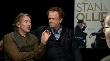 Steve Coogan et John C. Reilly au micro d'Hugues Dayez