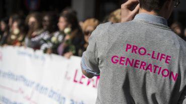 Une marche contre l'avortement à Bruxelles.