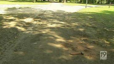 C'est ici, dans le Parc d'Avroy à Liège, que le meurtre a été commis.