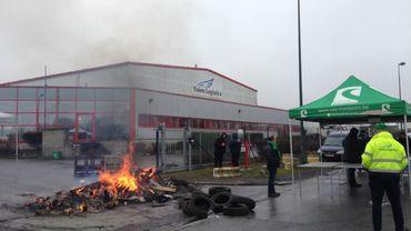 Les travailleurs de Yusen Logistics ont débrayé ce mardi après-midi
