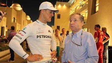 """Todt : """"Douloureux"""" de voir Schumacher dans cet état"""