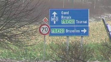 E429 : la bretelle d'accès Frasnes-lez-Anvaing fermée vers Bruxelles