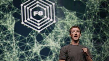 Marc Zuckerberg lors de sa conférence de presse
