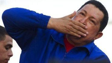 Le président vénézuélien Hugi Chavez lors d'un meeting de campagne à Monagas, le 28 septembre 2012