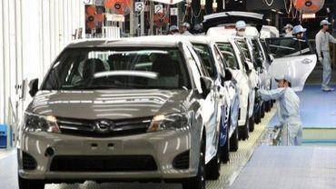 Dans l'usine Toyota d'Ohira, dans le nord du Japon, en mai 2012